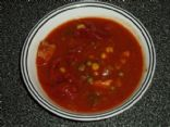 Tomato Vegetable Soup/Stew with Chicken Breast
