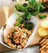 Fresh & Smoked Salmon Tartare w Dill & Capers