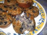 Grain Free Banana Blueberry Muffins