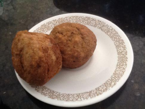Whole Wheat Flax Banana Muffins
