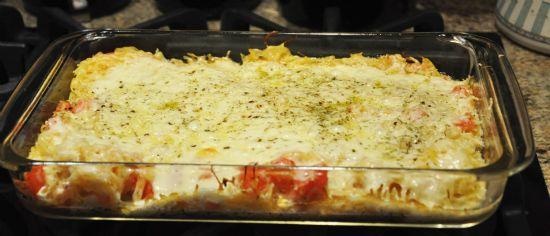 Cheesy Spaghetti Squash Bake Recipe   SparkRecipes