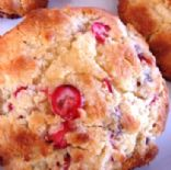 Scones w/fresh cranberries