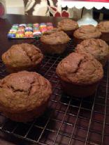 Spiced Banana Pecan Muffins