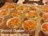 Broccoli, Cheddar, Bacon Bacon Muffins