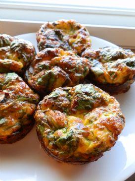 Induvidual Spinach Mushroom Quiches