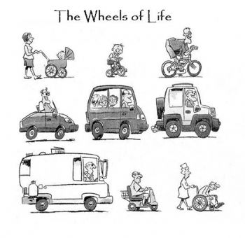 STAGES OF LIFE~~~VIA WHEELS~