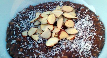 Almond Joy Slow Cooker Oatmeal