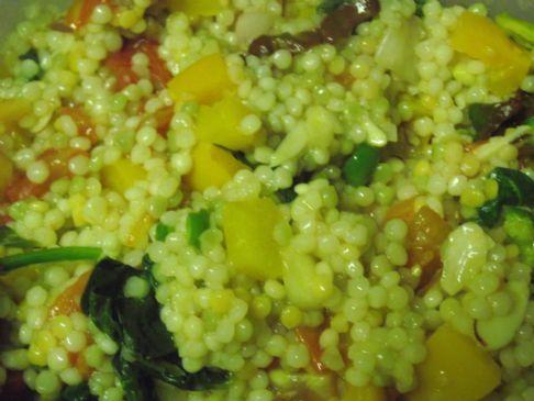 Habanero firey vegan couscous