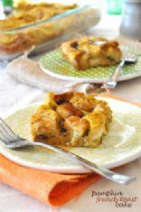 Pumpkin Spiced French Toast Bake