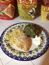 Baked Garlic Chicken Breast and Angel Hair Pasta