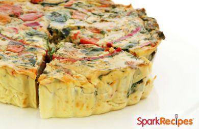 Crustless Kale, Sundried Tomato, and Parmesan Quiche Recipe ...