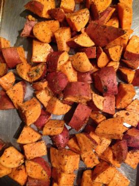 Herb Roasted Sweet Potatoes Recipe | SparkRecipes