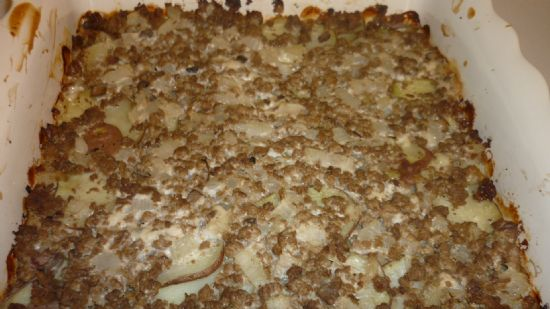 Ground Beef~Potato Casserole
