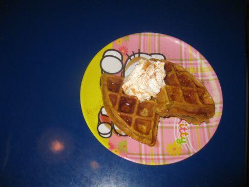 Belgium Pumkin Waffles