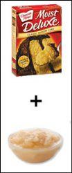 Cake Mix + No-Sugar-Added Applesauce