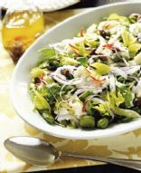 Broad Bean Salad with Buffalo Mozzarella
