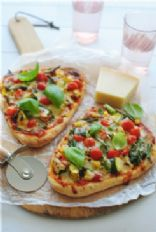 Grilled Veggie Naan Flatbread pizza