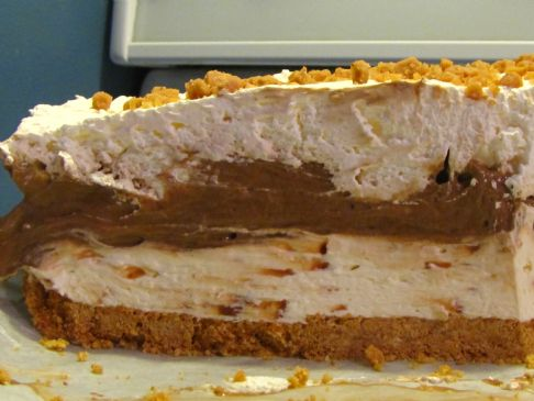 Skor Cake With Chocolate Pudding