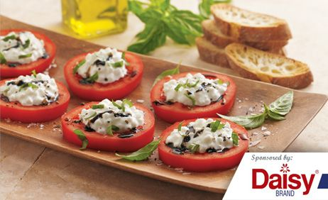 Italian Tomatoes with Herbed Cheese & Toast from Daisy Brand�