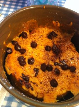 Pumpkin-Carob Dessert (microwave, single serving)