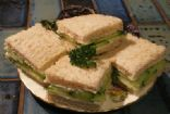 Wholemeal Cucumber Cream Cheese Sandwiches