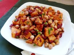 Yam and Chickpea Salad