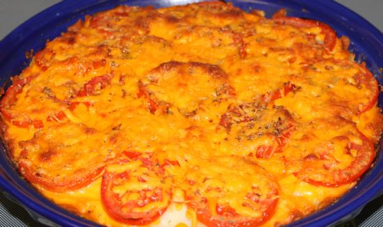 Tomato, Potato and Cheese Pie