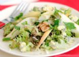 Escarole Salad with Gorgonzola-Walnut Apple Crisps