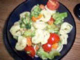 Cheese Tortellini with broccoli & carrots