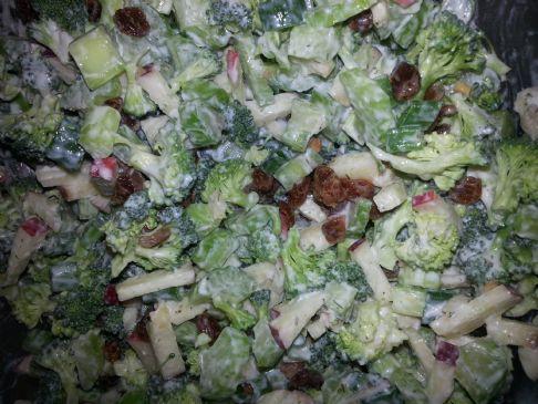 Broccoli, Celery and Apple salad