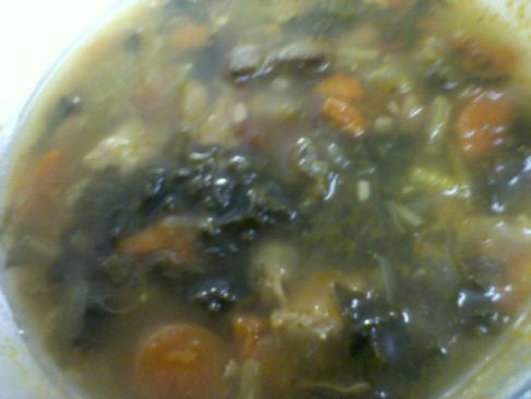 Chicken Kale Spinach Navy Bean Soup