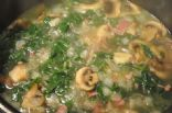 Greens, Beans and Turkey Bacon soup