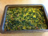 Egg, Spinach, Ham Breakfast Casserole