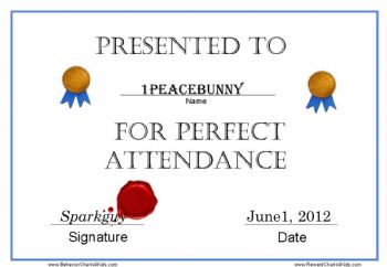 Perfect Attendance Awards and Why Spark People Owes Me 1…NOW!