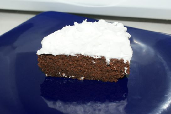 Brownie with coconut frosting
