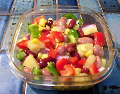 Pineapple Vegetable Salsa