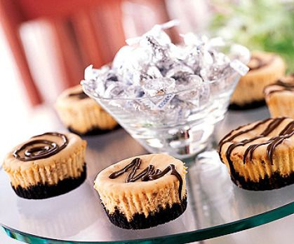 Peanut Butter Chocolate Cheesecakes