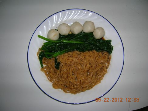 Wonton Noodle with Fish Ball & Choy Sum