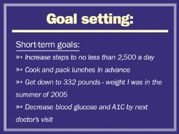 What are some short-term goals?