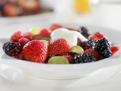 Fresh Fruit Salad with Honey-Yogurt Dressing RECIPE