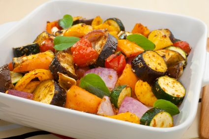 Grilled Roasted Vegetables with Pineapple