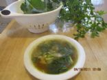 Simple Spring Garden Chicken Soup