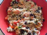Quinoa bean and veggie bowl