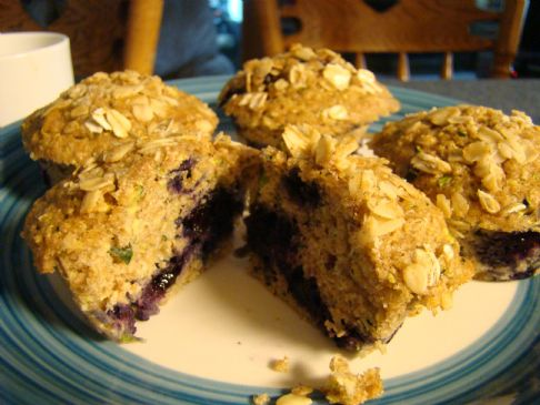 Zucchini Blueberry Muffins