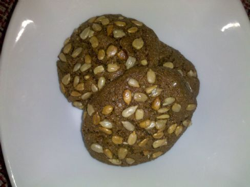 Chocolate Sunflower seed cookies