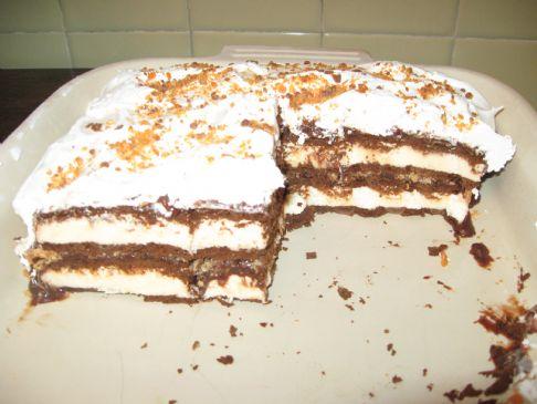 Light Ice Cream Sandwich Cake