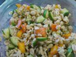 Barley, cuke, tomato balsamic salad