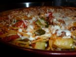 Veggie Beef Spaghetti Casserole