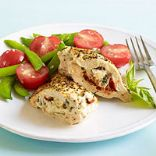 Stuffed Chicken Breasts and Cherry Tomato Salad