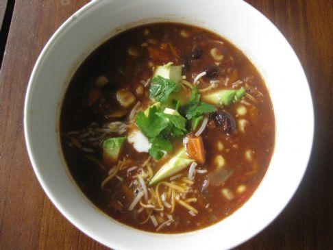 Black Bean Vegetable Soup Recipe | SparkRecipes